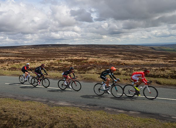 The riders head through the North York Moors
