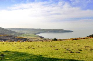 Image looking over to Robin Hood's Bay from Ravenscar on the Yorkshire Coast