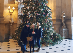 The 25ft Christmas tree in the Grand Hall at Castle Howard