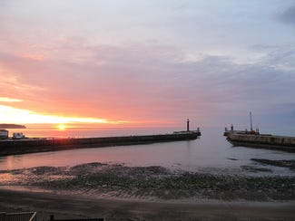 This is an image of Whitby pier