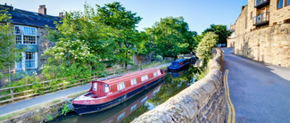 This is an image of Skipton canal