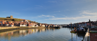 Whitby harbour in Spring