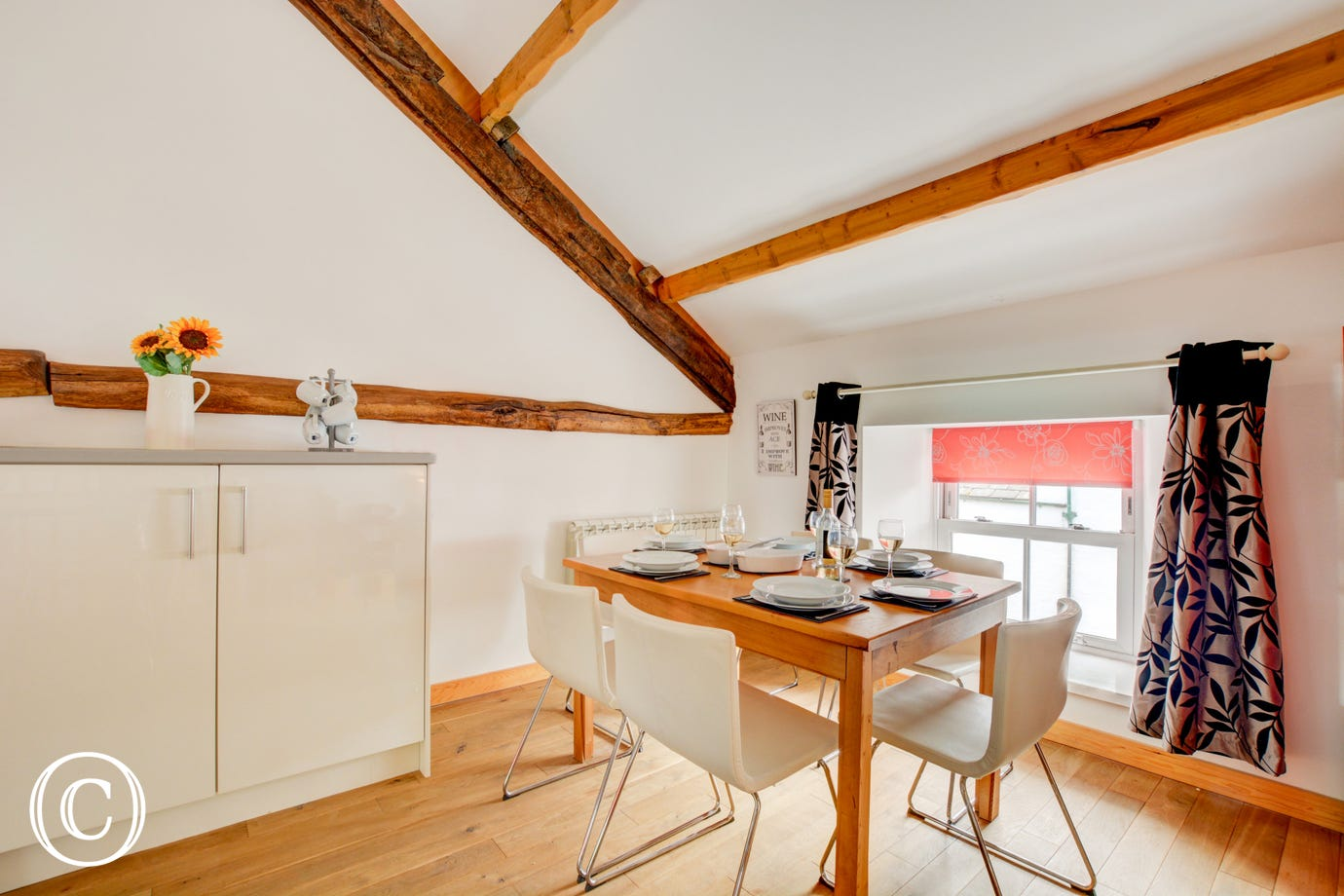 The dining area of the open plan living accomodation