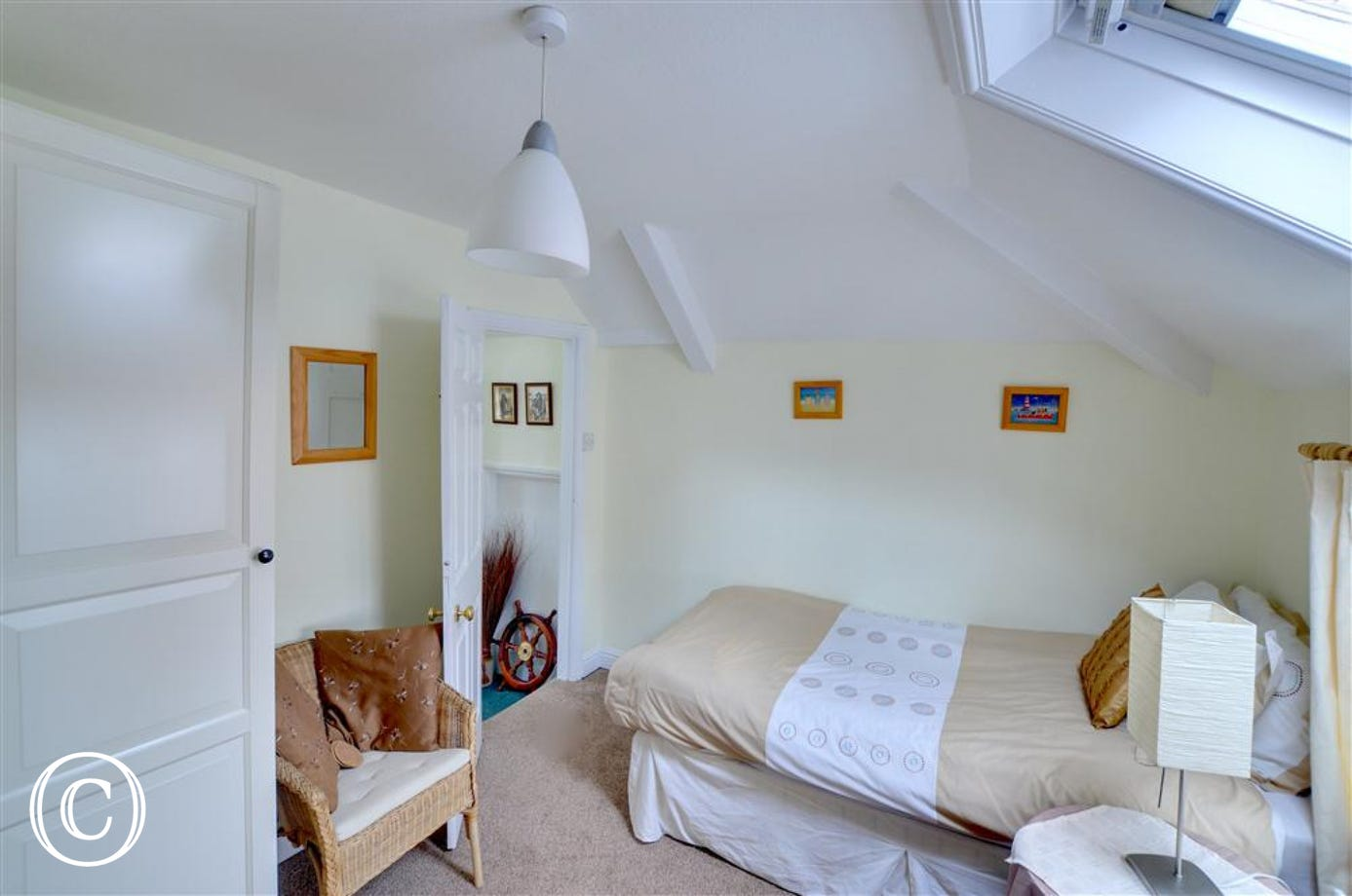 There is a Velux window in the twin room which gives it a bright and airy feel.