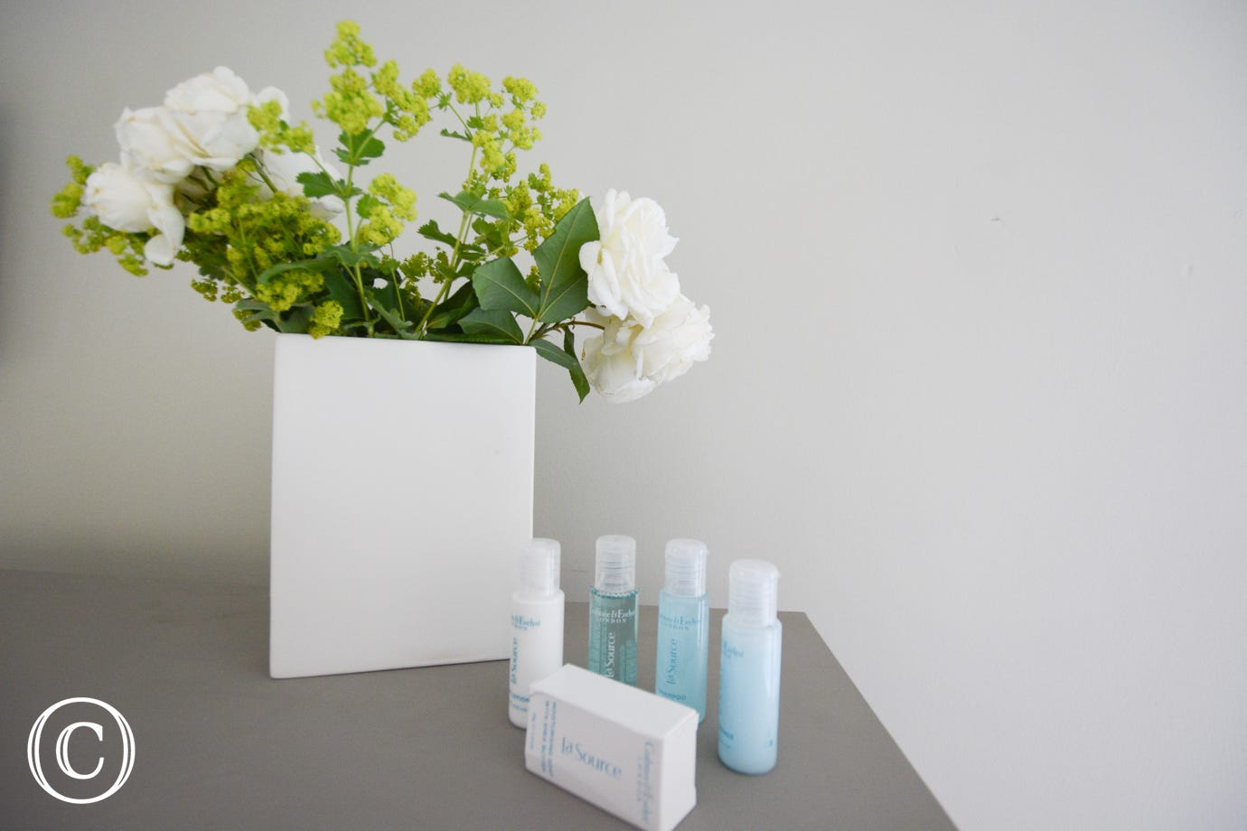 Toiletries for you in the bedroom