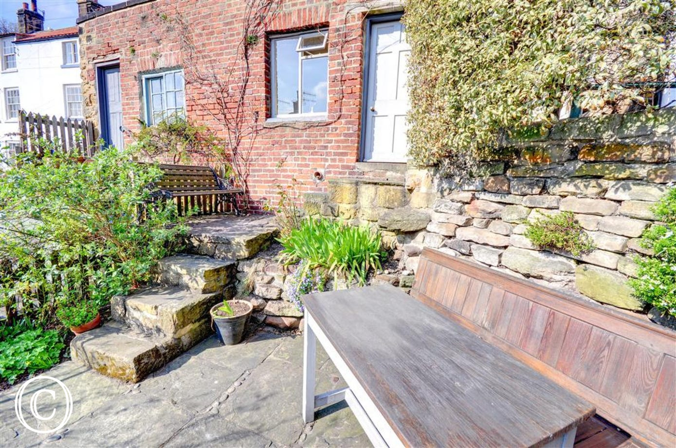 There is also a suntrap Patio area with outside seating.