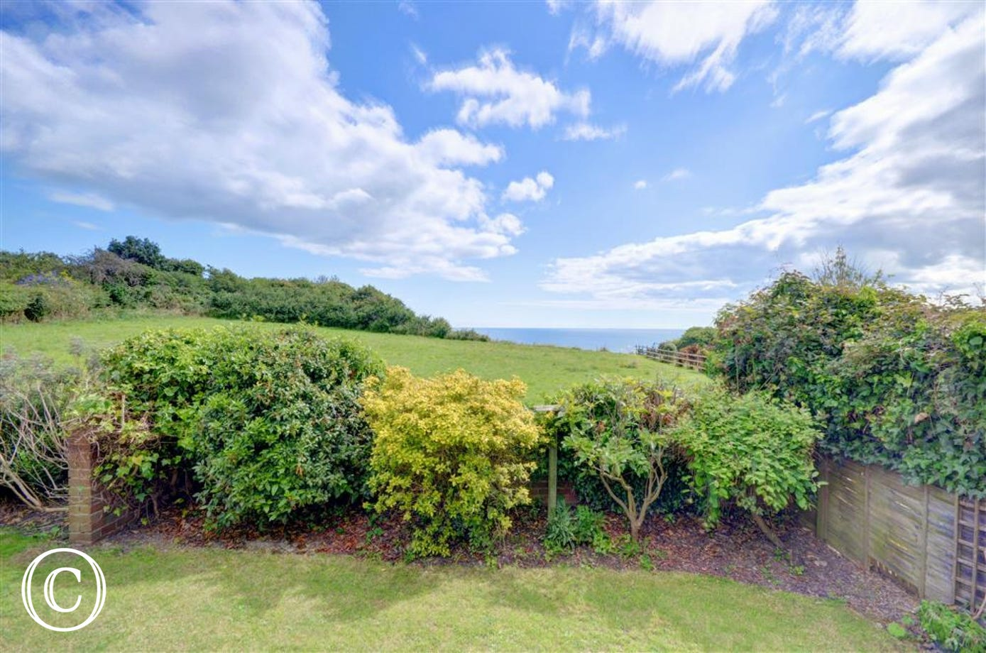 The property has stunning views towards the sea.