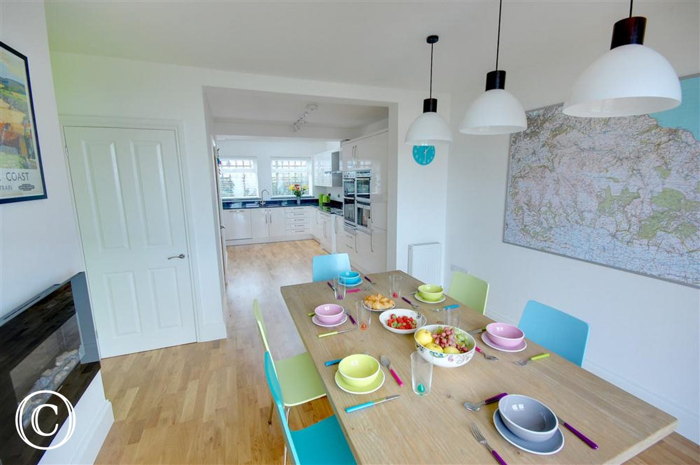 The Dining Area is adjoined to the open-plan kitchen. Plenty of space throughout these two rooms.