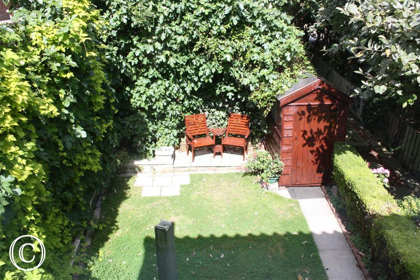 Small garden to the rear of the property - a real luxury in the town centre.