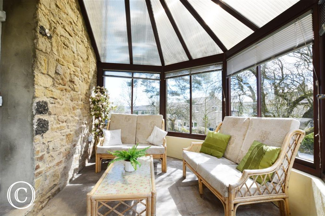Conservatory with views over the gardens