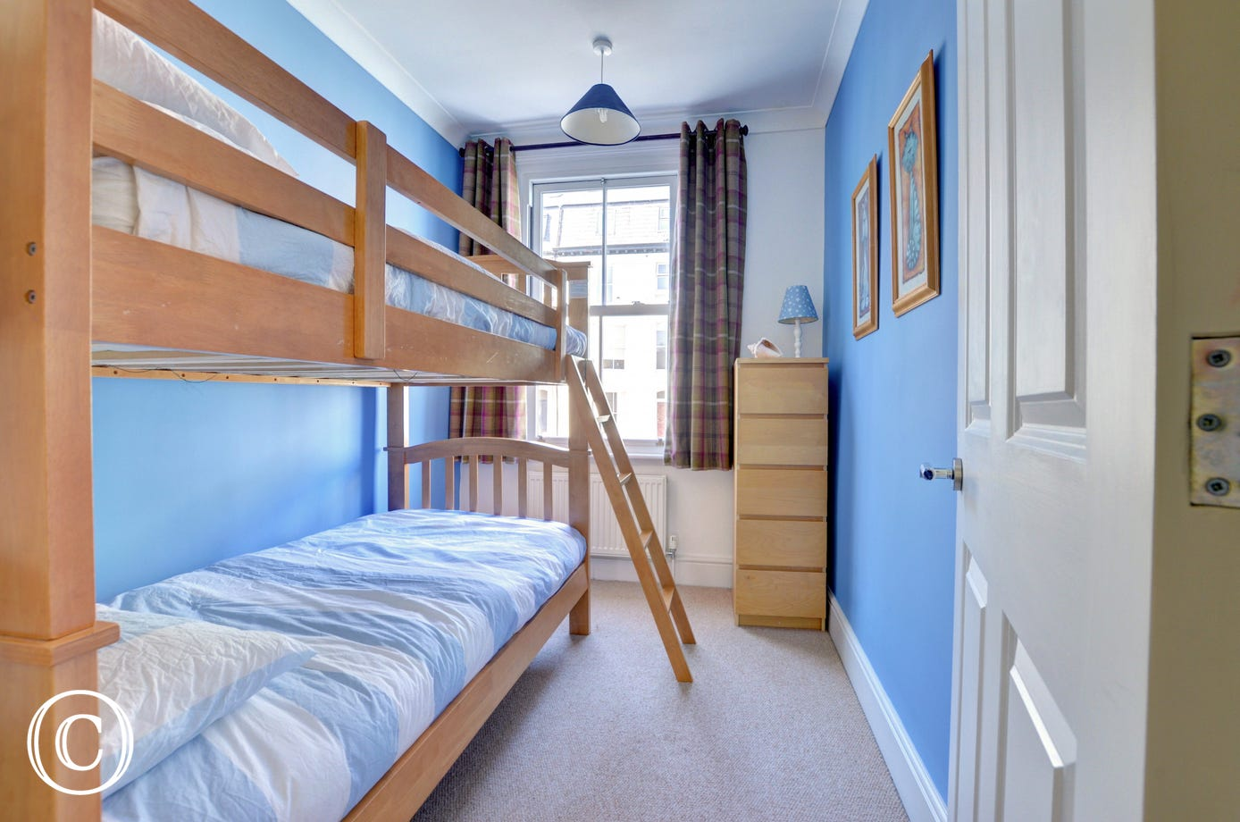 With bunk beds, this is a great bedroom for kids,