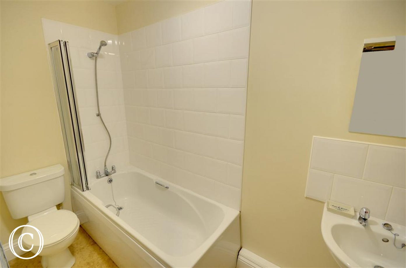 Main Bathroom featuring both bath and shower facilities.