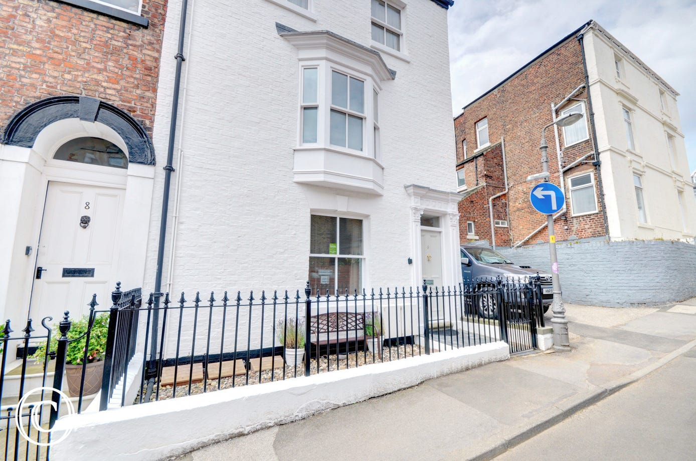 The apartment is located in the heart of Whitby.