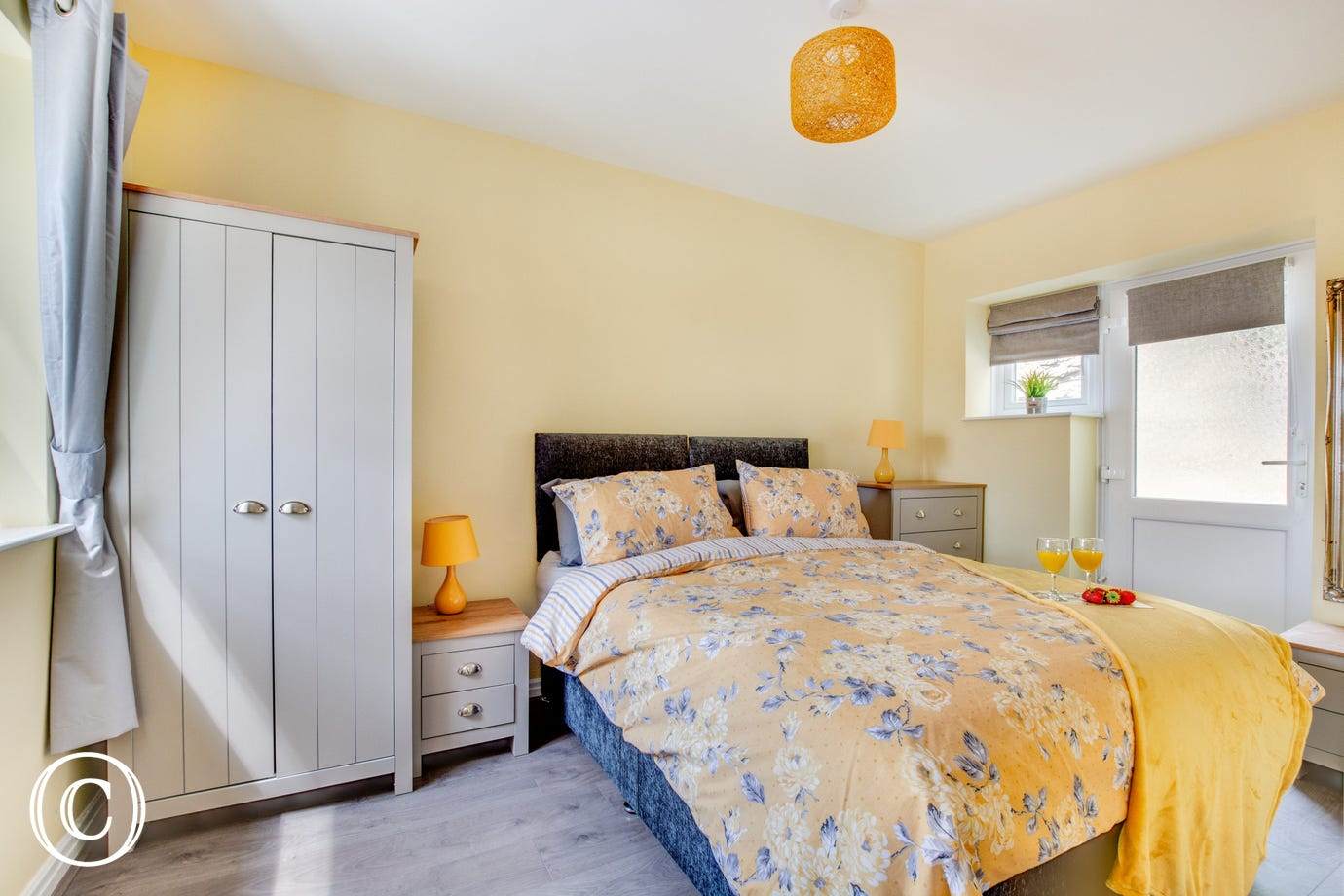 Master bedroom, nice and light and airy