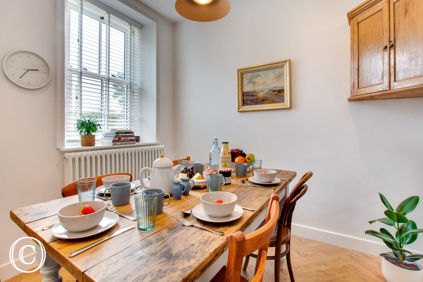 Spacious dining area of the kitchen, views over the rear garden