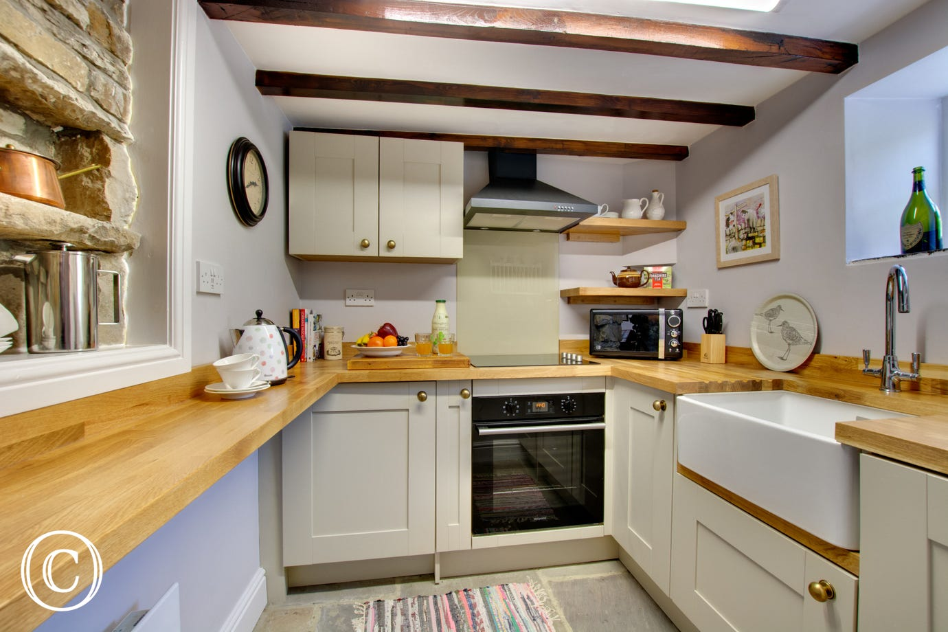 Kitchen at Wardle Hall Cottage