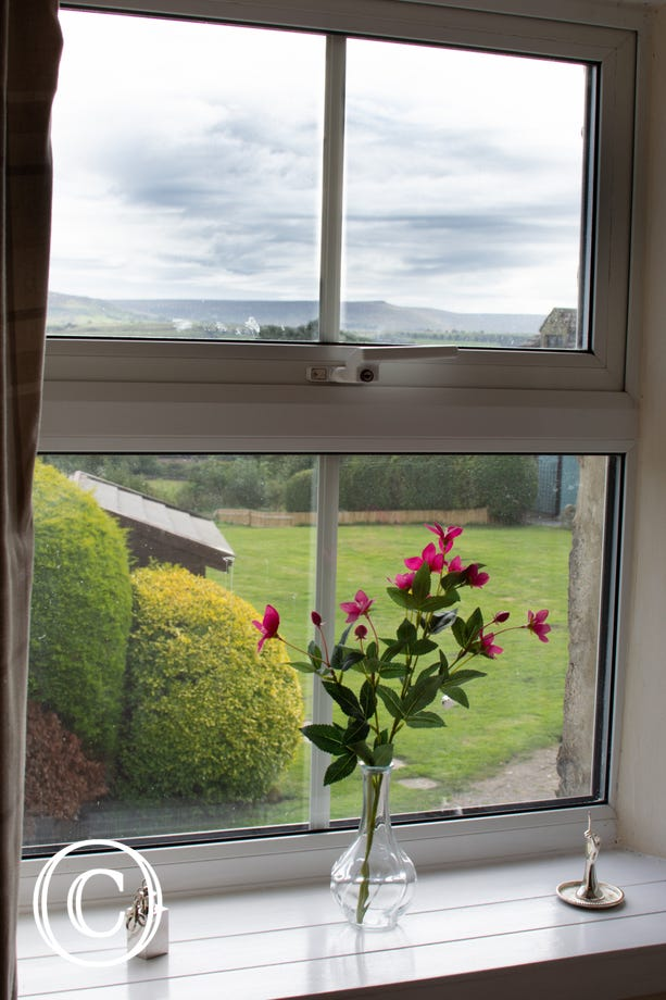 Views towards Pen Hill from the bedroom