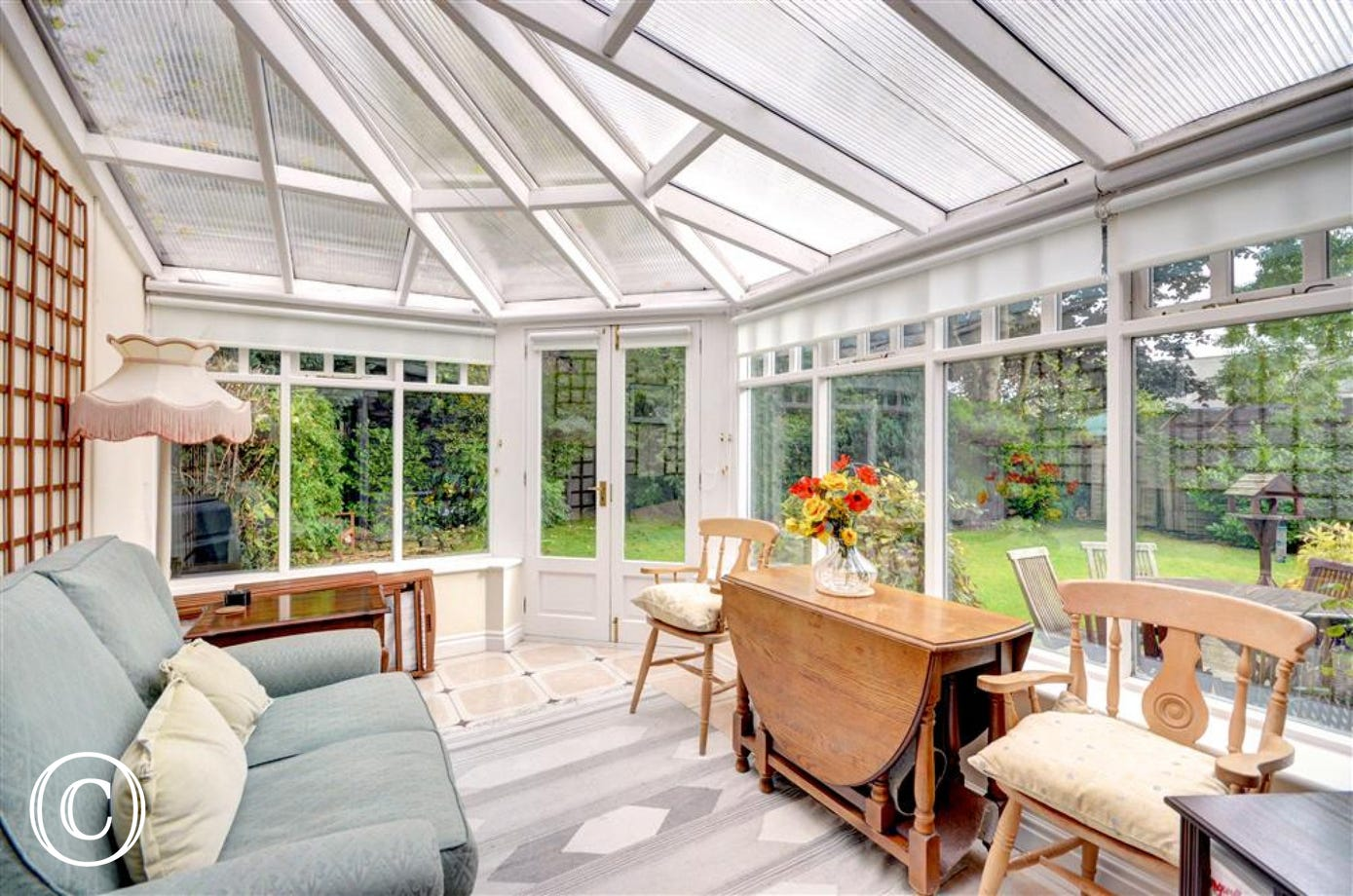 Light and bright conservatory.