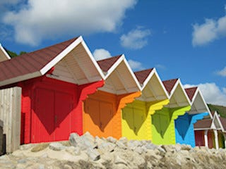 This is an image of beach huts