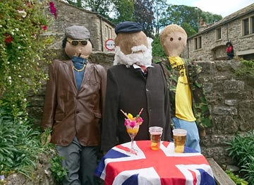 This is an image of Kettlewell Scarecrow Festival