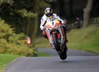 This is an image of a motorbike at Oliver's Mount