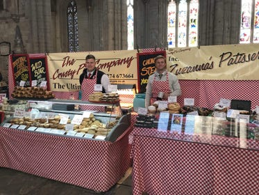 Food and drink stalls at Ripon Cathedral