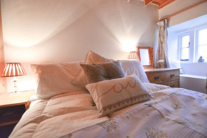 Second bedroom with countryside views and double bed
