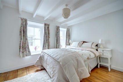 Bedroom 1 has a double bed with good quality linen.