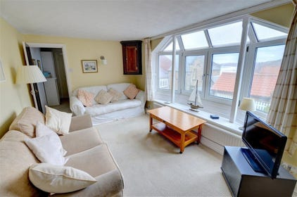 There is a fantastic bay window in the Lounge which has some partial views of the coast back towards Whitby.