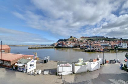 Stunning views over the harbour and Whitby's East side.