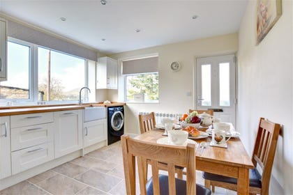 Admire fabulous views from the windows while cooking or eating.