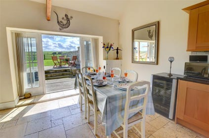 Sit and enjoy your meal whilst looking out onto the Garden.