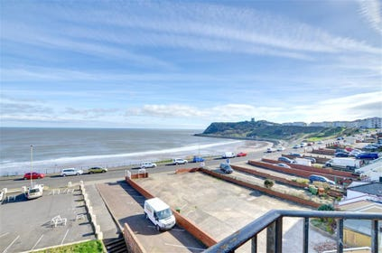 From the balcony you have stunning views towards Scarborough castle and the beach,