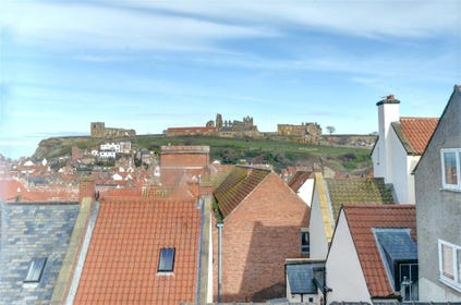 Views to Whitby Abbey from both bedrooms.