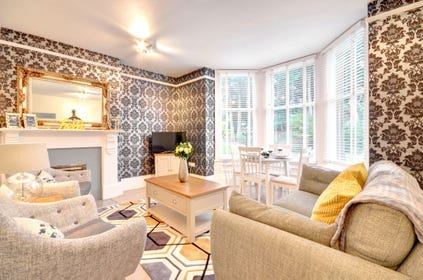 The apartment has recently been refurbished into a stylish holiday home.