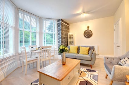 Enjoy Pannett Park views from the living area.