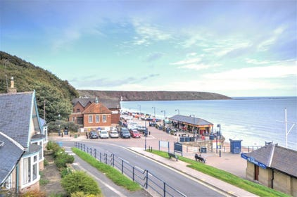View from the balcony - Filey Brigg.