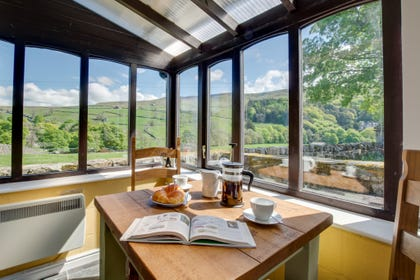 The conservatory with the most stunning views over Swaledale